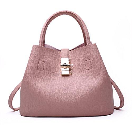 Dame Lychee Muster Beiläufige Einfache Handtaschen-Schulter-Beutel-Kurier-Beutel B