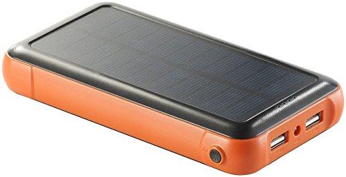 revolt Solarladestation: Solar-Powerbank PB-200.s mit 20.000 mAh, Ladestand-Anz, 2X USB (Solar Bank)