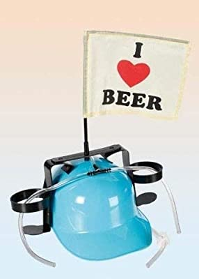 ALSS 2 Lot de casques de construction surmontés d'un drapeau I Love Beer et avec un tuyau