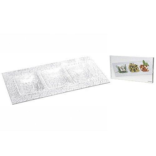 Mazali Ko Serv DZ6000030 Serving plate rechteckigen Glas, mehrfarbig