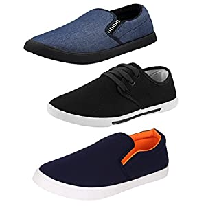 Bersache Men Combo Pack of 3 (Casual Loafer Shoe with Sneaker )