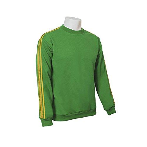 Jumar Sport - Sudadera básica deportiva Verde con Lista Amarilla