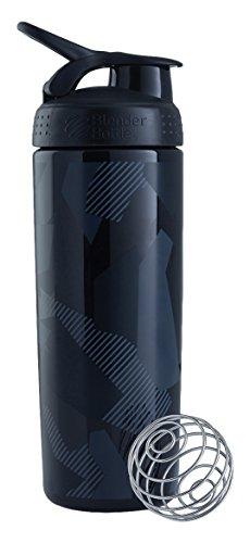 BlenderBottle–Elegante Shaker, unisex, Signature Sleek, Black Shattered Slate, 820ml