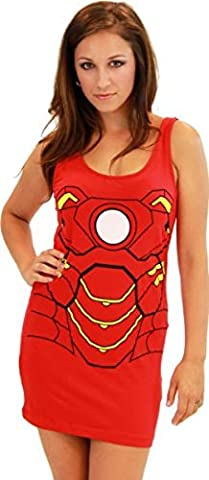Iron Man T-shirt Costume - Iron man rouge junior réservoir robe costume