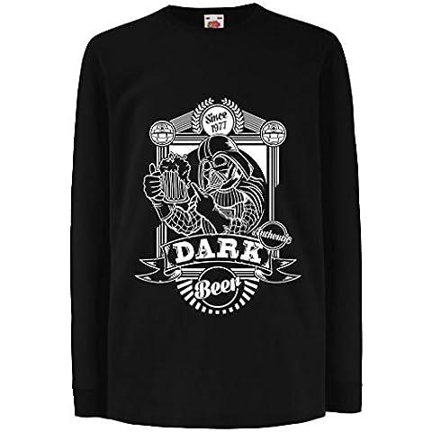 N4835K La camiseta de los niños The dark side of the beer
