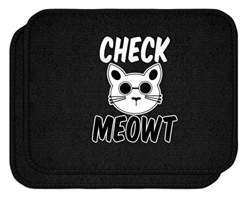 SPIRITSHIRTSHOP Check Meowt! Für die coolen Katzenliebhaber unter uns! Sonnenbrille Mauz - Automatten -Einheitsgröße-Schwarz