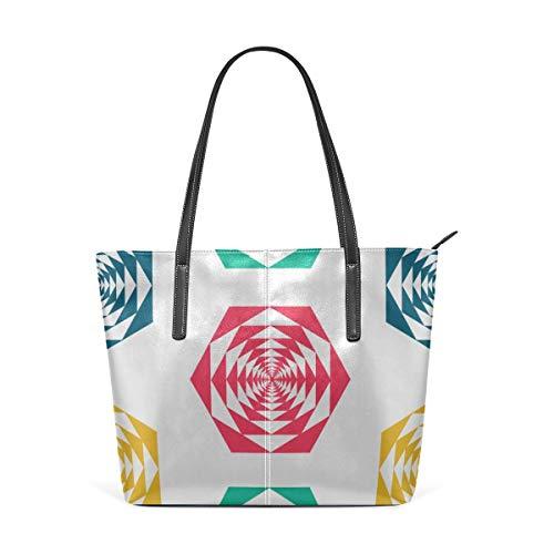 Mode Handtaschen Einkaufstasche Top Griff Umhängetaschen Tropical Beach Umbrella Large Printed Shoulder Bags Handbag Pu Leather Top Handle Satchel Purse Lightweight Work Tote Bag For Women Girls