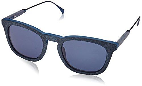 Tommy hilfiger th 1383/s ku qev 51, occhiali da sole uomo, blu (bluette pattern/bluee avio)