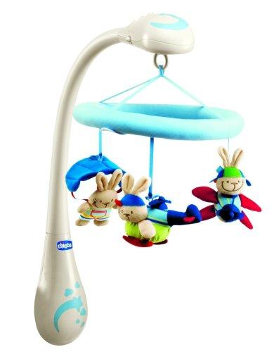 Chicco 00.71496.00.00 - Giostrina per culla, motivo: Coniglietti, colore: Blu