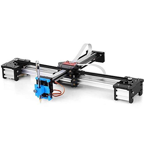 Zeichenmaschine, 100-240V DIY Zeichnungsroboter, 2 Achsen Desktop DIY CNC Montiert XY Plotter Stift Zeichnung Roboter Zeichnung Maschine Malerei Handschrift Roboter Kit(EU)