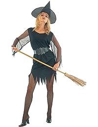 Islander Fashions Womens Halloween Party Disfraz de Bruja Sexy Ladies Fancy Dress Party Wear Outfit One