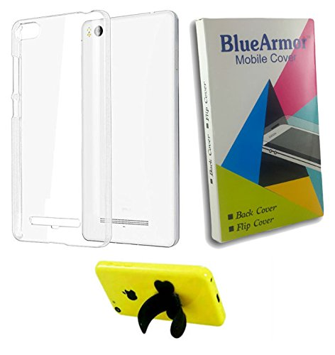 BlueArmor Soft Silicone Back Cover Case For Xolo Era X - Transparent & Silicone Stand