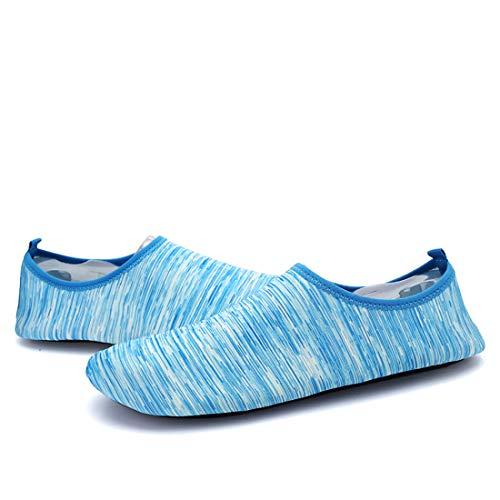 n Schwimmschuhe Surfschuhe Barfuß Schuhe Elastisch Tragbar Rosa Atmungsaktiv Schwimmbad Surfen Bootfahren Couple Aquaschuhe 43 44 Blau ()