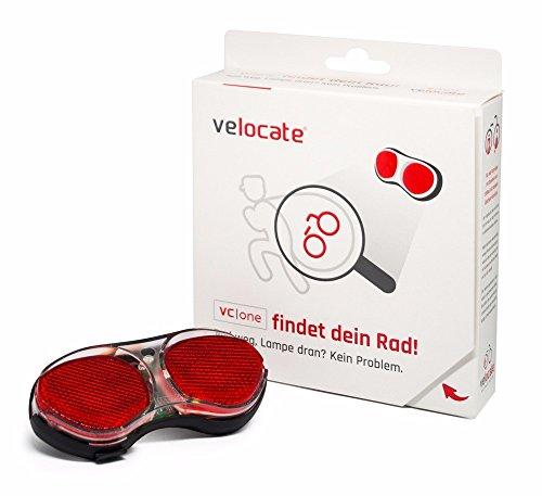 VELOCATE GPS Rücklicht für Fahrräder, Diebstahlschutz durch GPS Ortung, schwarz/rot, 12 Monate