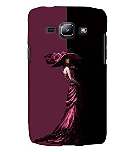 Fuson Well dressed Girl Back Case Cover for SAMSUNG GALAXY J1 - D3922