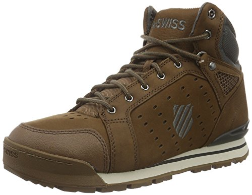 K-Swiss Norfolk, Baskets Basses Homme Marron (Bison/Beluga)