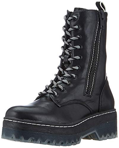 Tamaris 1-1-25957-33, Botas Militar para Mujer, Negro Black 001, 36 EU