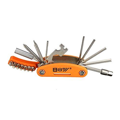 TENGGO 19 In 1 Fahrrad Werkzeug Sechskant Schraubendreher Schraubenschlüssel Reparaturset Mit Offenen Endete Spanner Sprach Schraubenschlüssel