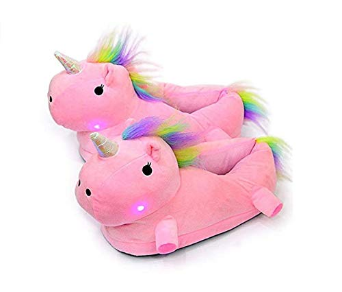 Nordvpn Unicorn Sneakers mit Unicorn Plüsch Warme Schuhe LED Sneakers