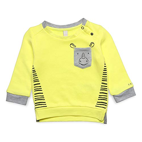 ESPRIT KIDS Baby - Jungen Sweatshirt Sweatshirt, per Pack Gelb (Lemon Drop 710), 62 (Herstellergröße: 62)
