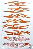 Tribal acht Aufkleber rot 4 Adler Bogen 26x17 cm