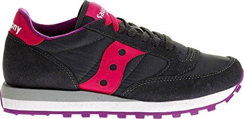 Saucony jazz original, scarpe da ginnastica donna, grigio (carbone/rosa), 39 eu