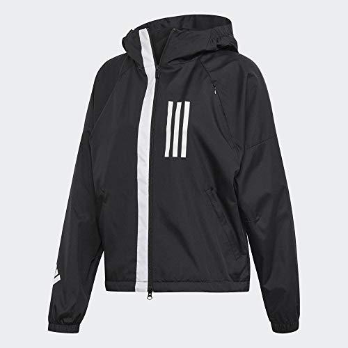 adidas Damen W W.N.D. Jacket, Schwarz, S