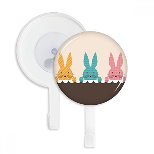 Ostern Religion Festival Cute Bunny Kultur Saugnapf Haken Kunststoff Badezimmer Küche 5x Geschenk