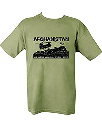 Kombat Mens Military Printed Army Combat Taliban Afghanistan Hunting Club Chinook Helicopter Iraq Camo T-shirt (Large = Chest 103-111cm or 41.5 inch)