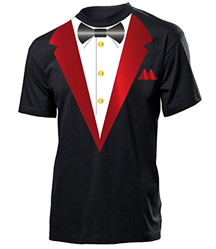 Casino Smoking Jungesellenabschied Feier Ideen 4554 JGA Herren Shirt Kostüm für Männer Geschenk verkleidung Tshirt Party Schwarz ()