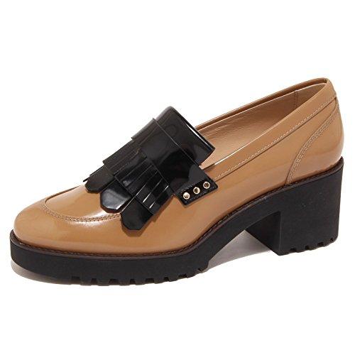 5892O mocassino HOGAN ROUTE cammello scarpa donna shoe woman [40]