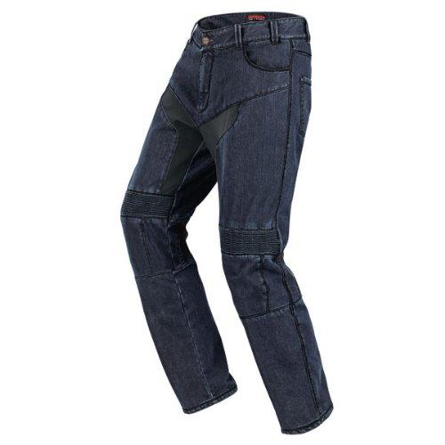 Spidi - Pantaloni da Moto in Tessuto Furious Denim Jeans, Nero/Blu, 34