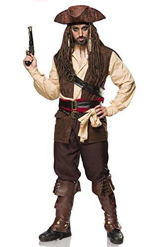 Erwachsene Für Jack Kostüm Sparrow - MASK PARADISE Kostümset Captain Jack