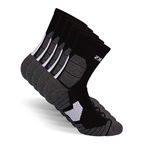 Snocks Running Socks Männer Schwarz Größe 47-50 Sportsocken Gr 47 48 49 50 Herren Schwarze Laufsocken Compression Funktionssocken Sport Socken Run Kompressionssocken Trekkingsocken Fahrradsocken Lauf