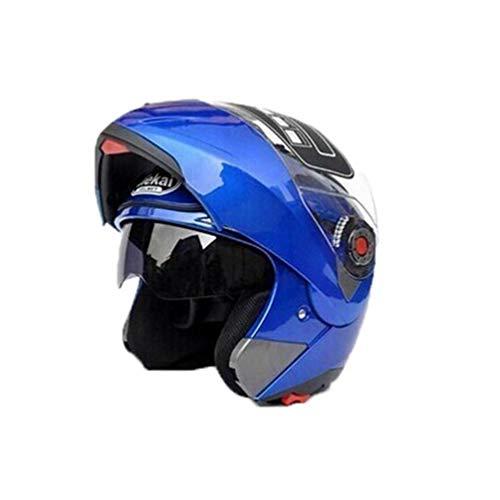 Flip up caschi moto unisex doppio Visiere Anti nebbia shock antivento moto Caschi con cappuccio di sudore per Motocross Racing Mountain bik
