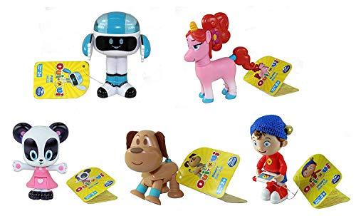 Noddy DreamWorks Toyland Detektiv – Set mit 5 beweglichen Figuren, Pat-Pat, holpriger Hund, Sicherung & Bling