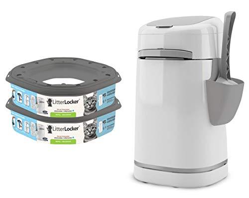 Poubelle litière LitterLocker Plus 2 recharges