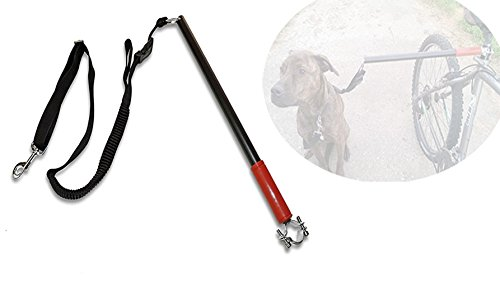 t-tocas-bicycle-dog-metal-leash-walk-ride-with-hands-free-pet-training-lead-red-handle