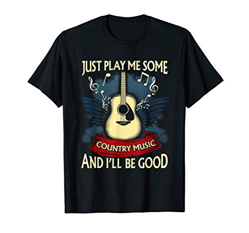 Just Play Me Some Country Music Country Music Festival T-Shirt (Cowgirl T-shirts Up)