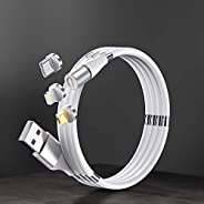 Easy Coil 3 in 1 magnetic - Charging & Data Cables, type C, micro USB, iPhone to USB A, with tip ho