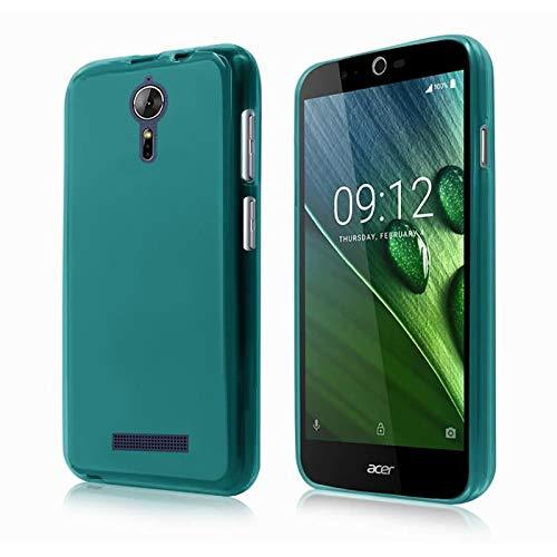 Acer Liquid Zest Plus 4G - Coque Protection arrière clipsable turquoise clair smartphone - Accessoires pochette XEPTIO : Exceptional case !