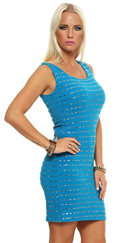 Fashion4Young - Robe - Cocktail - Femme Turquoise