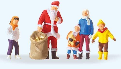 Preiser 29098 H0 Weihnachtsmann mit Kindern Test