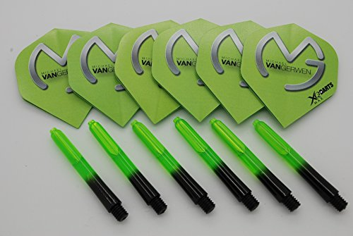 Michael van Gerwen Dart Flights und Stiele Set, 2 Sets Flights / 2 Sets Stems