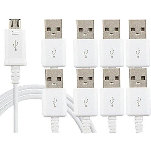 Micro-USB-Kabel, ibarbe 1er Pack 6ft Premium Micro USB Kabel High Speed USB 2.0A Stecker auf Micro-B-Sync und langlebig Ladekabel Kabel Samsung, HTC, Motorola, Nokia, Android, und mehr (weiß)