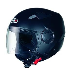 SHIRO SH-61 APP Half-Face Helmet with 5 Years Warranty (Small, Matt Black)