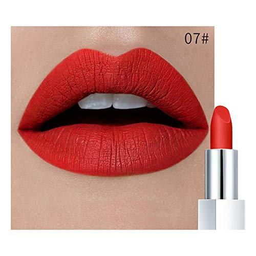 Jaminy Wasserdichte Langlebige Matte Lipgloss Lippenstift Kosmetik Make up Lippenstift Wasserdichtes langlebiges Moisturizing Lip Balm (G)