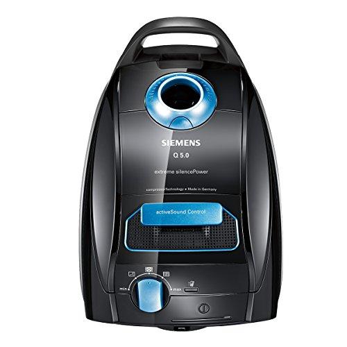 Siemens VSQ5X1230 Bodenstaubsauger Q5.0 extreme Silence Power EEK B (850 Watt, 4 L Staubbeutelvolumen, Hochleistungs-Hygienefilter) schwarz -
