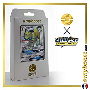 Persian-GX 207/214 Full Art - #myboost X Soleil & Lune 10 Alliance Infaillible - Box de 10 cartas Pokémon Francés