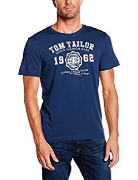TOM TAILOR Herren T-Shirt Logo Tee